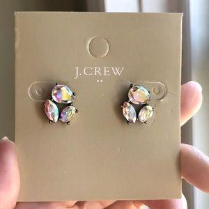 JCrew Trio Crystal Stud Earrings